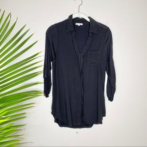 Pleione black long sleeved top
